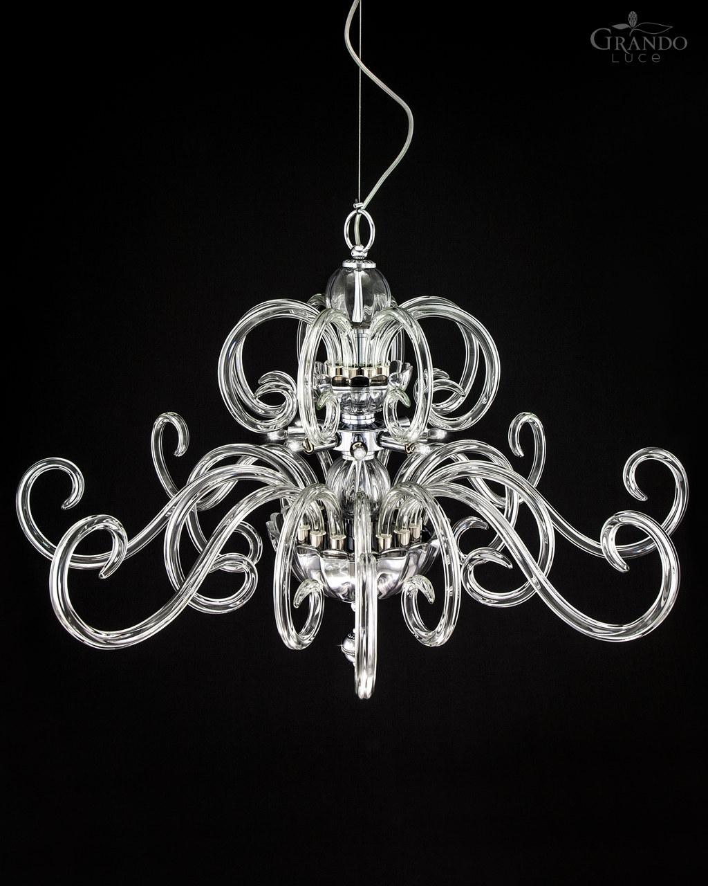 119sg Chrome Modern Crystal Chandelier With Crystal Swarovski Throughout Chrome Chandeliers (Image 2 of 15)