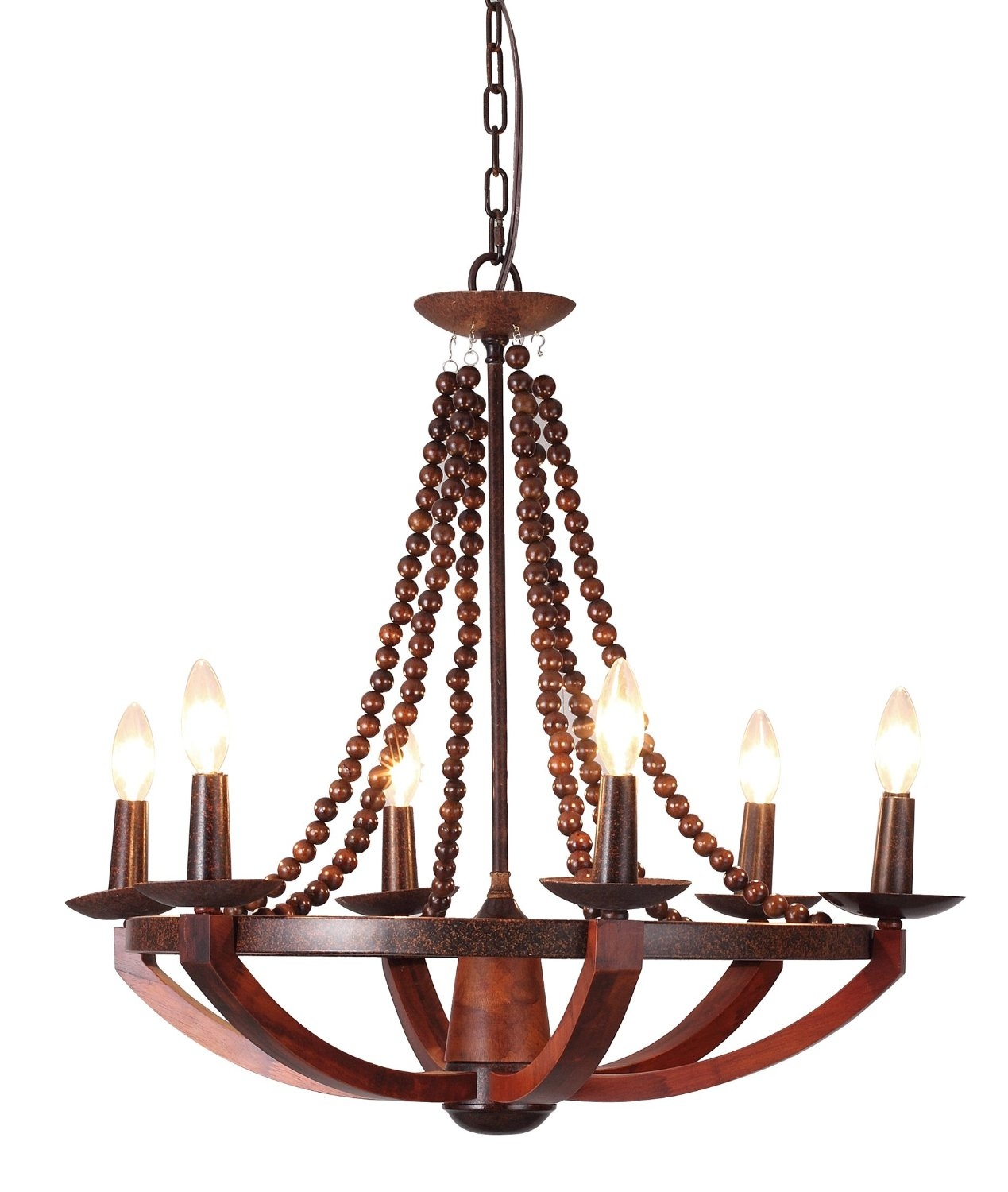 12 Best Rustic Wood And Metal Chandeliers Qosy For Wooden Chandeliers (Image 1 of 15)