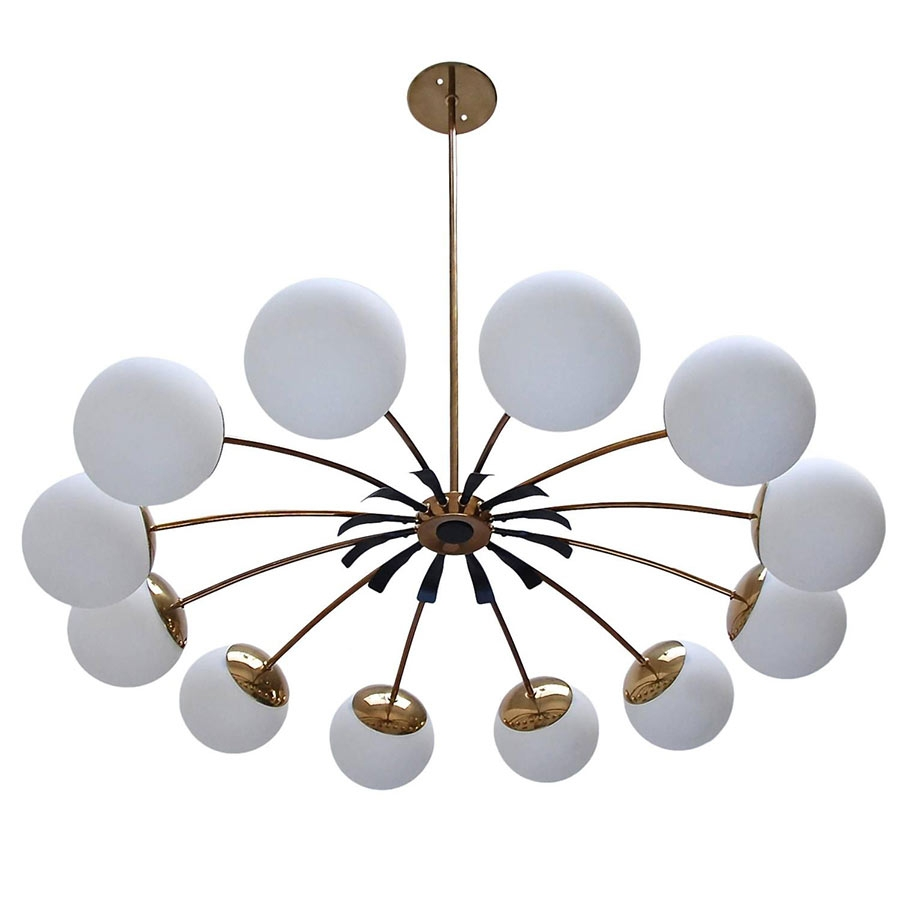 12 Globe Italian Chandelier Vintage Chandeliers At Lumfardo Intended For Vintage Italian Chandeliers (Image 1 of 15)