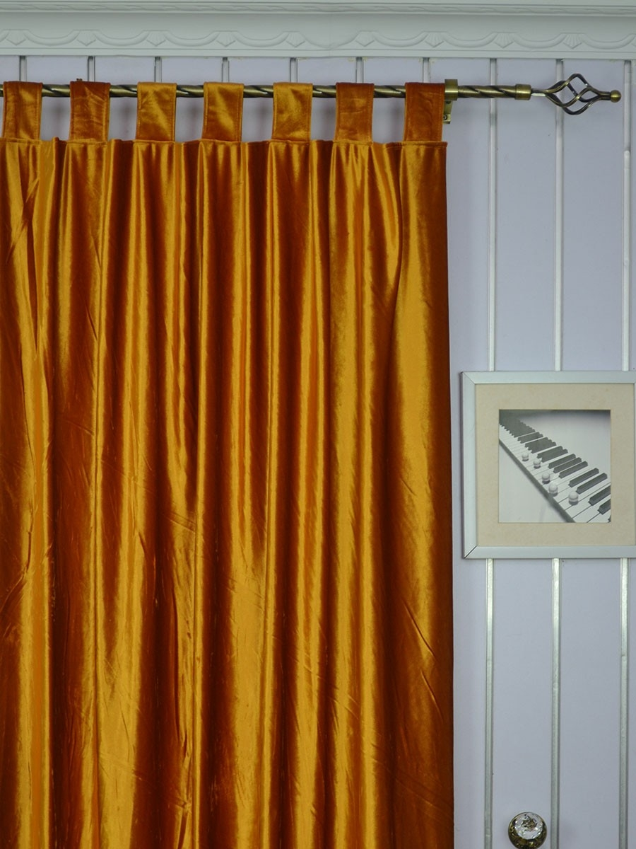 120 Inch Extra Wide Whitney Brown Blackout Grommet Velvet Curtains For Ready Made Curtains 120 Inch Drop (Image 2 of 15)
