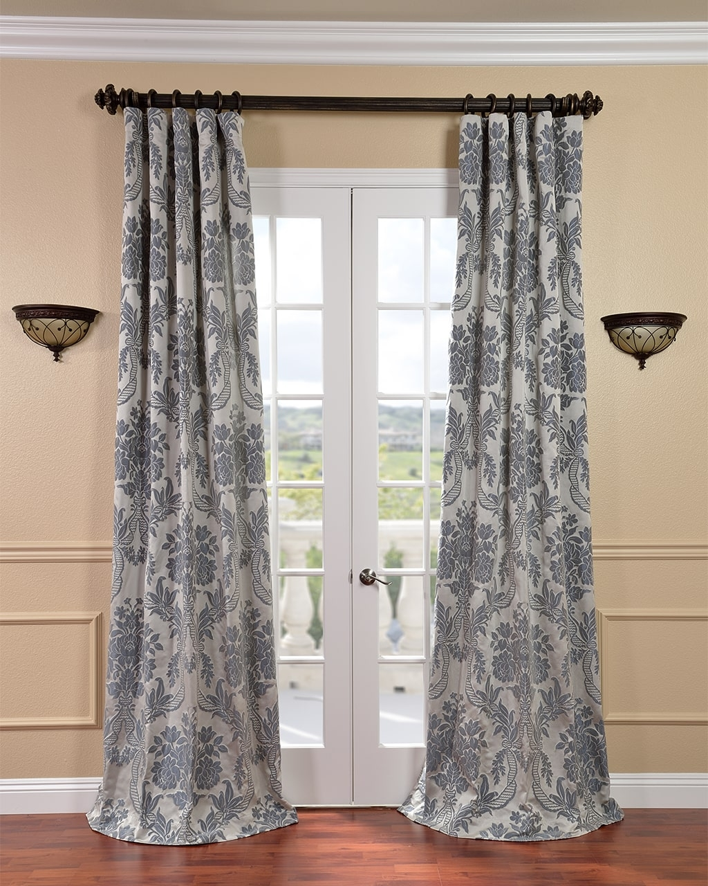 120 Inches Curtains Drapes Shop The Best Brands Overstock Throughout Extra Long Door Curtain (Image 1 of 15)
