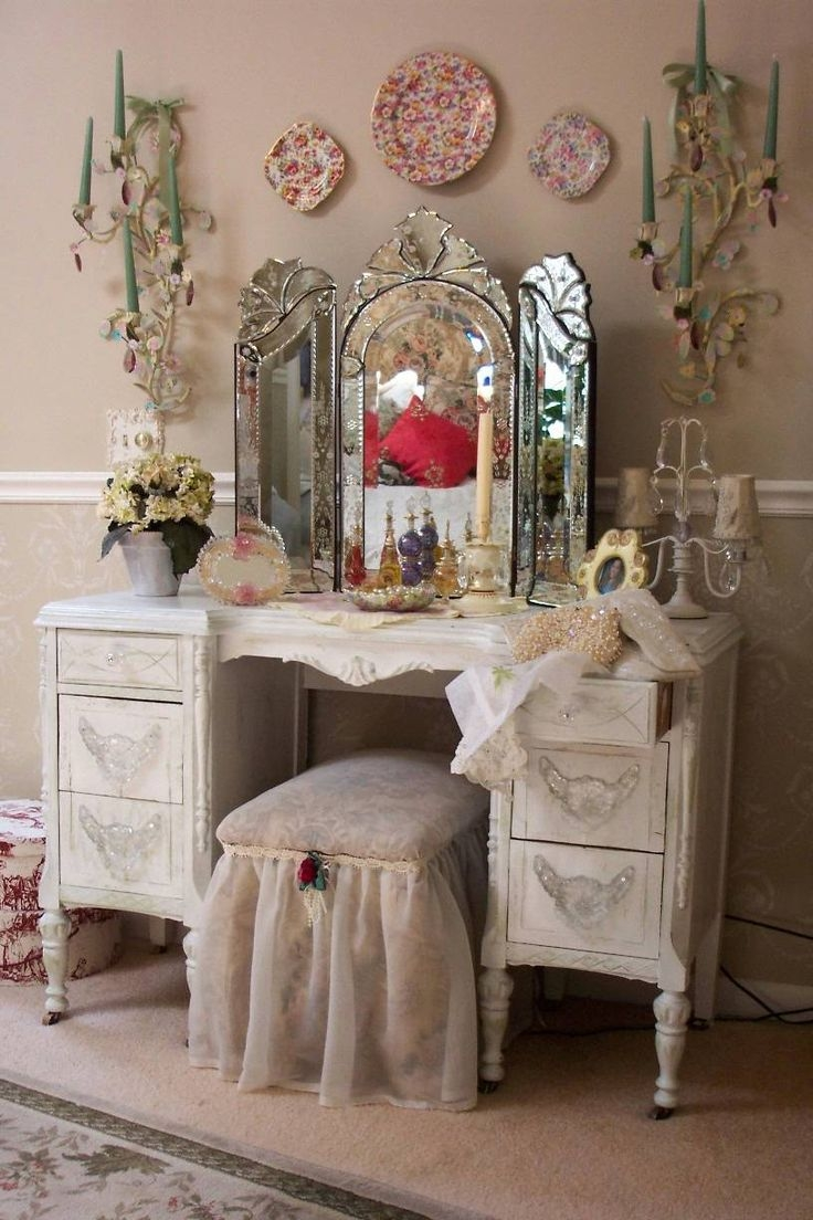 122 Best Images About Shab Chic Vanity On Pinterest Pertaining To Cheap Shabby Chic Mirrors (Image 1 of 15)
