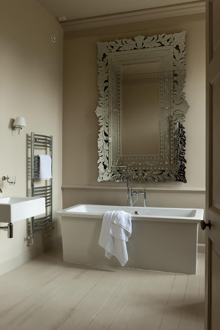 1221 Best Images About Bathroom Bliss On Pinterest Contemporary With Regard To Venetian Bathroom Mirror (Image 2 of 15)