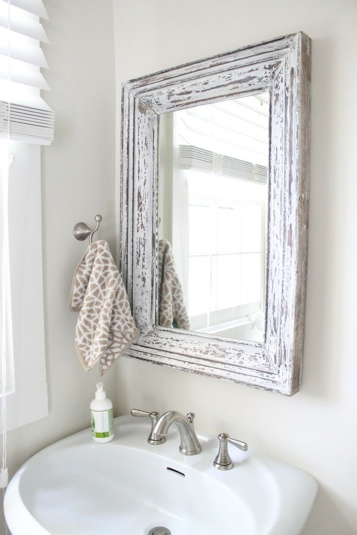 127 Best Images About Bathroom Mirrors On Pinterest Pertaining To Shabby Chic Bathroom Mirrors (Image 1 of 15)