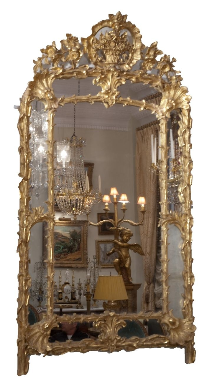 147 Best Images About Reflections On Pinterest Antiques Regarding Vintage Large Mirror (Image 1 of 15)