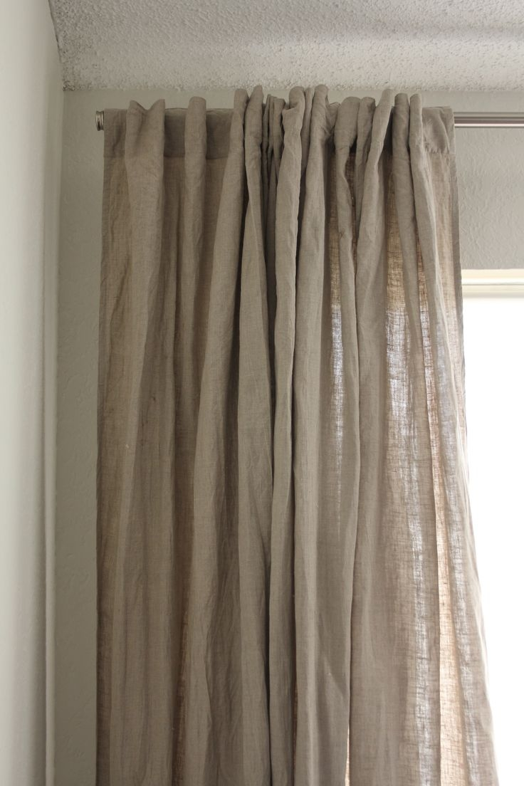 147 Best Images About Window Treatments On Pinterest Window Regarding Heavy Linen Drapes (Image 2 of 15)