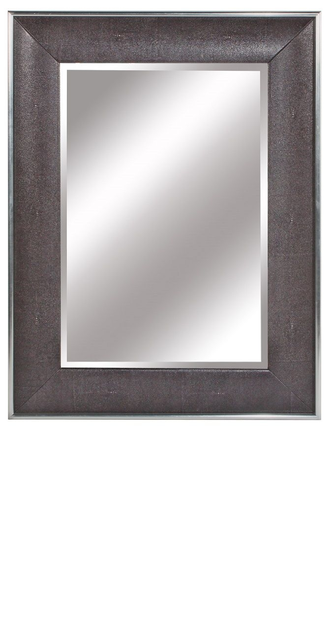 15 Best Images About Leather Wall Mirrors On Pinterest Mirror Intended For Black Leather Framed Mirror (Image 1 of 15)