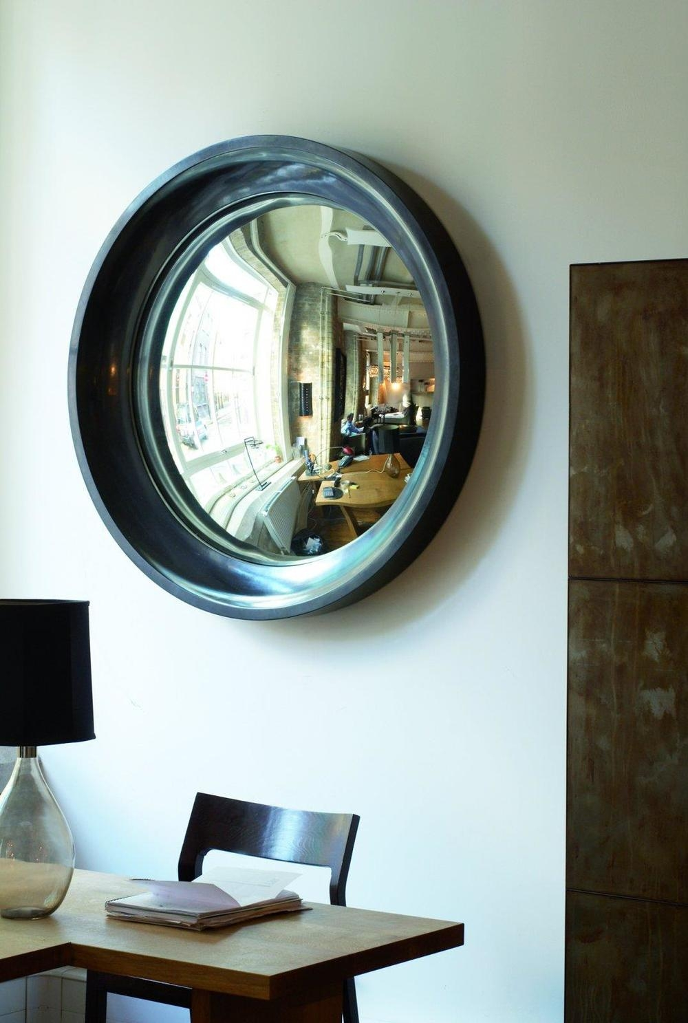 15 Interiors Turned Abstract Wall Art A Convex Mirror Designed For Convex Wall Mirrors (Image 1 of 15)