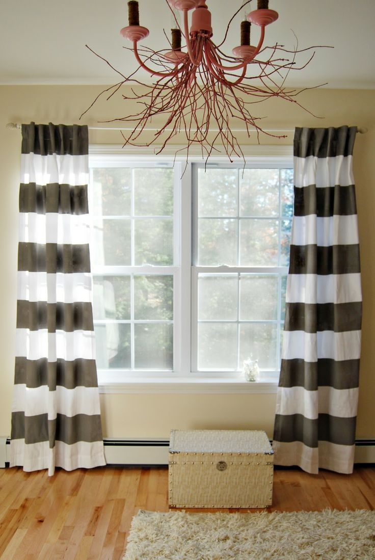17 Best Images About Curtains On Pinterest Window Treatments Within Thick Striped Curtains (View 5 of 15)