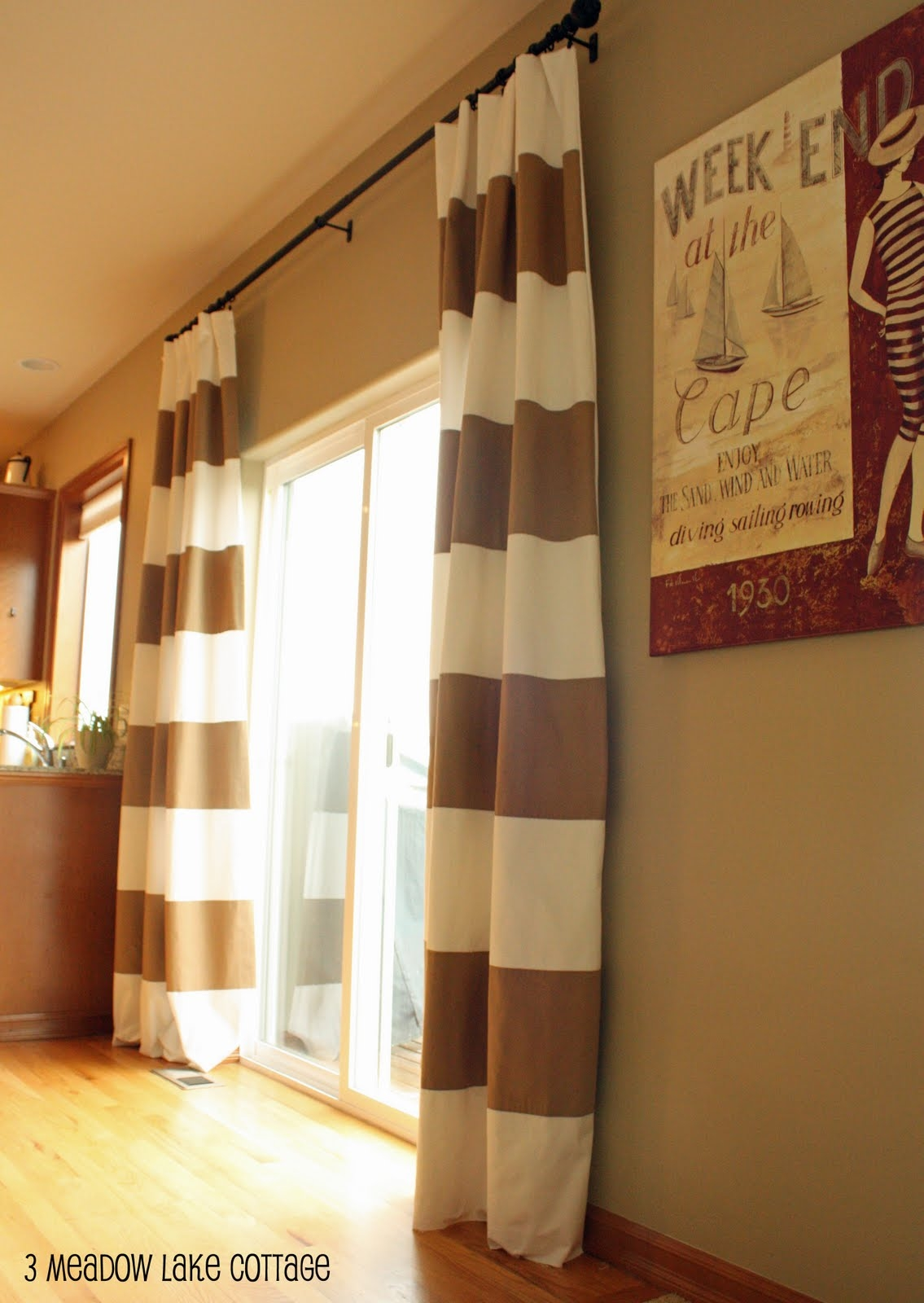 17 Best Images About Window Treatments On Pinterest Window Inside Striped Door Curtain (Image 1 of 15)