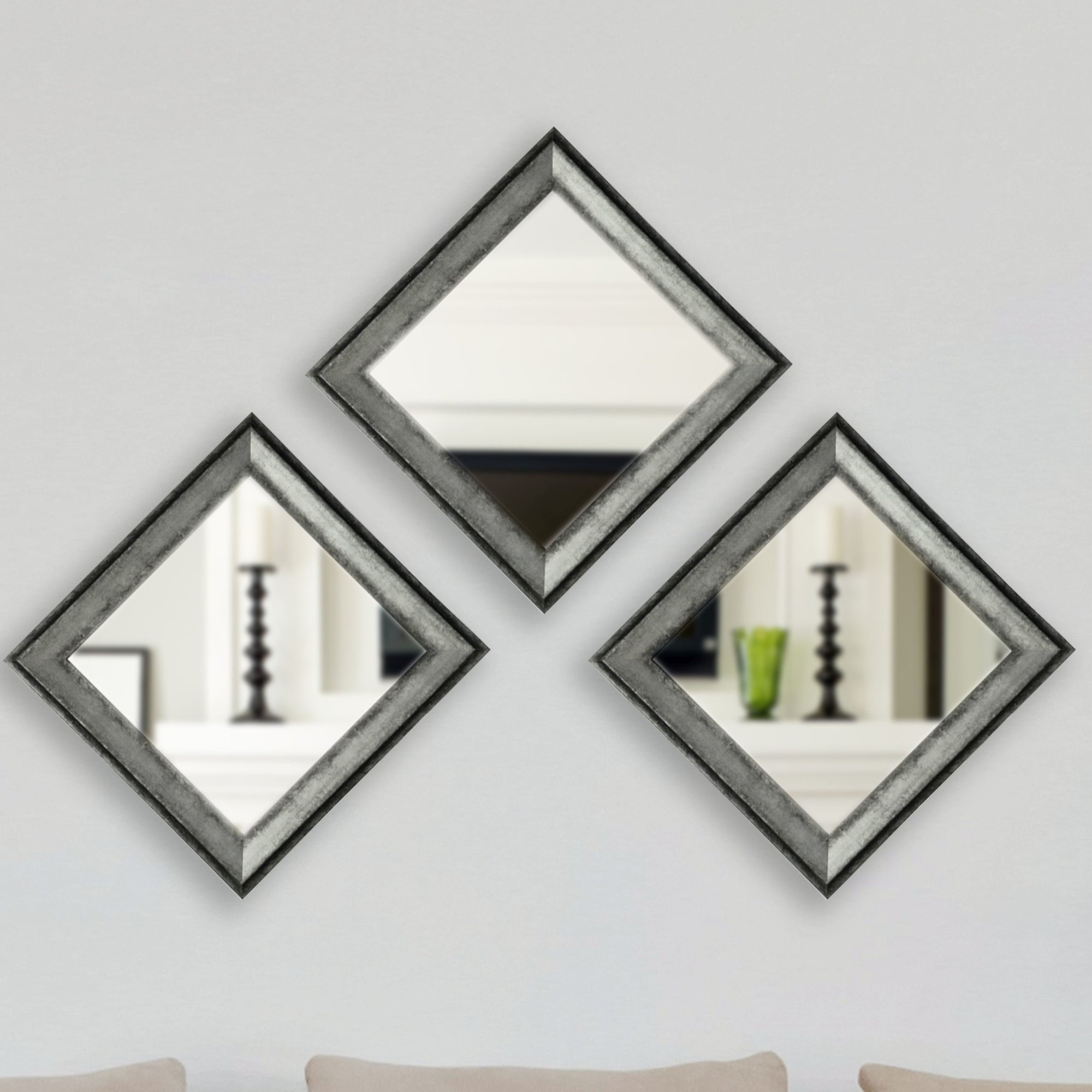 17 Stories Square Champagne Wall Mirror Wayfair Within Champagne Wall Mirror (View 12 of 15)