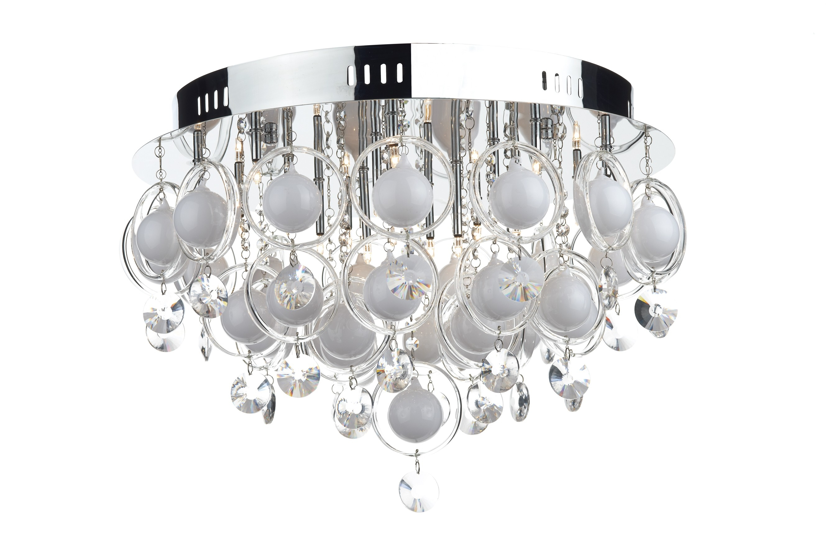 18 Light Ceiling Fitting In Flush Fitting Chandelier (Image 1 of 15)