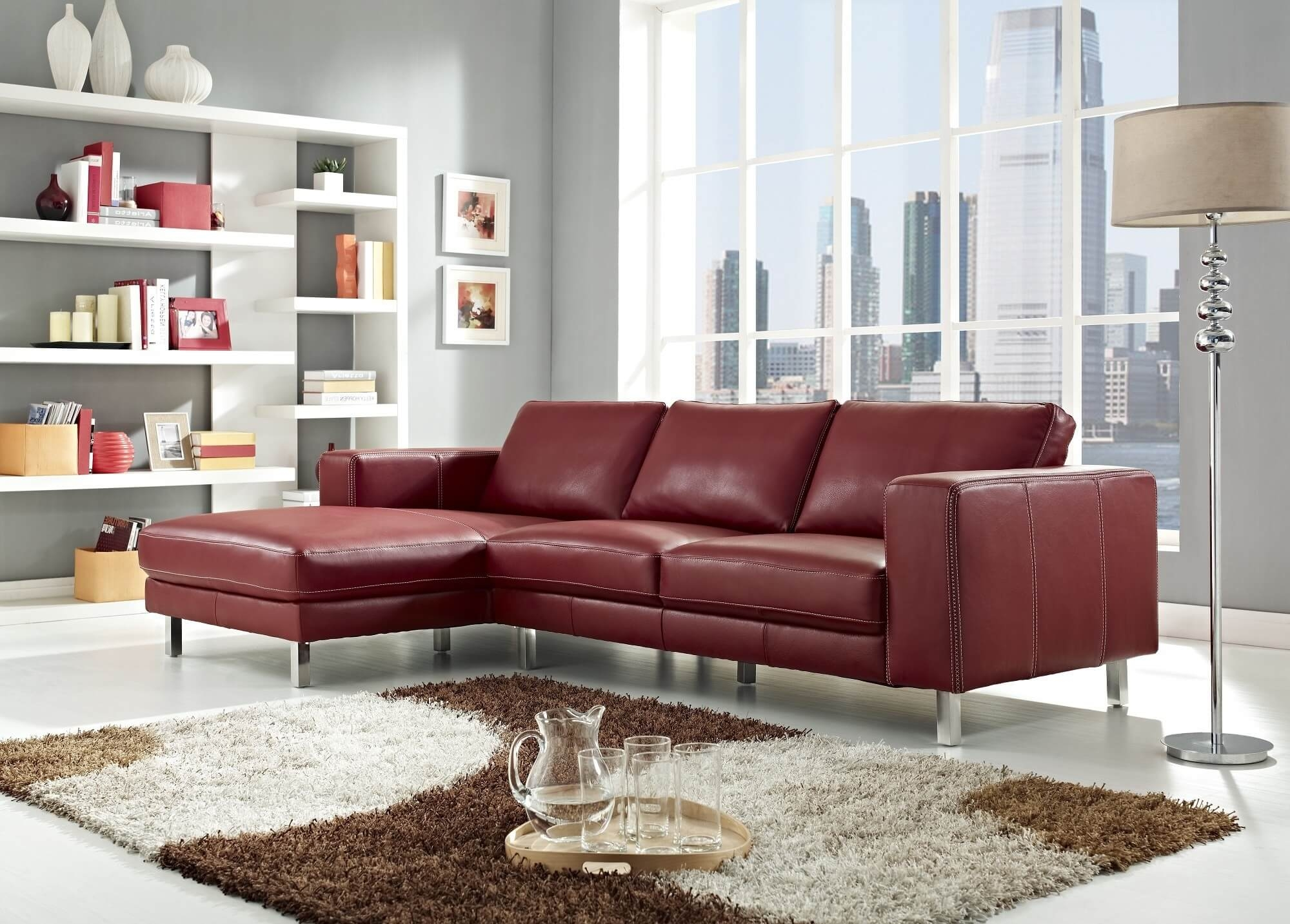 18 Stylish Modern Red Sectional Sofas Pertaining To Elegant Sectional Sofas (Image 1 of 15)