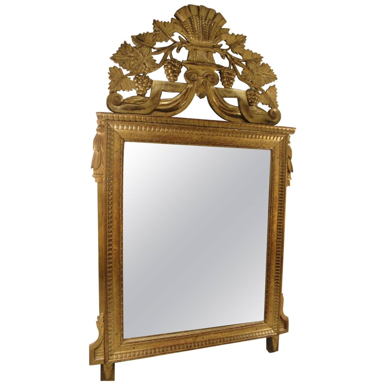 18th Century French Gilded Mirror For Sale At 1stdibs Pertaining To Gilded Mirrors For Sale (Image 2 of 15)