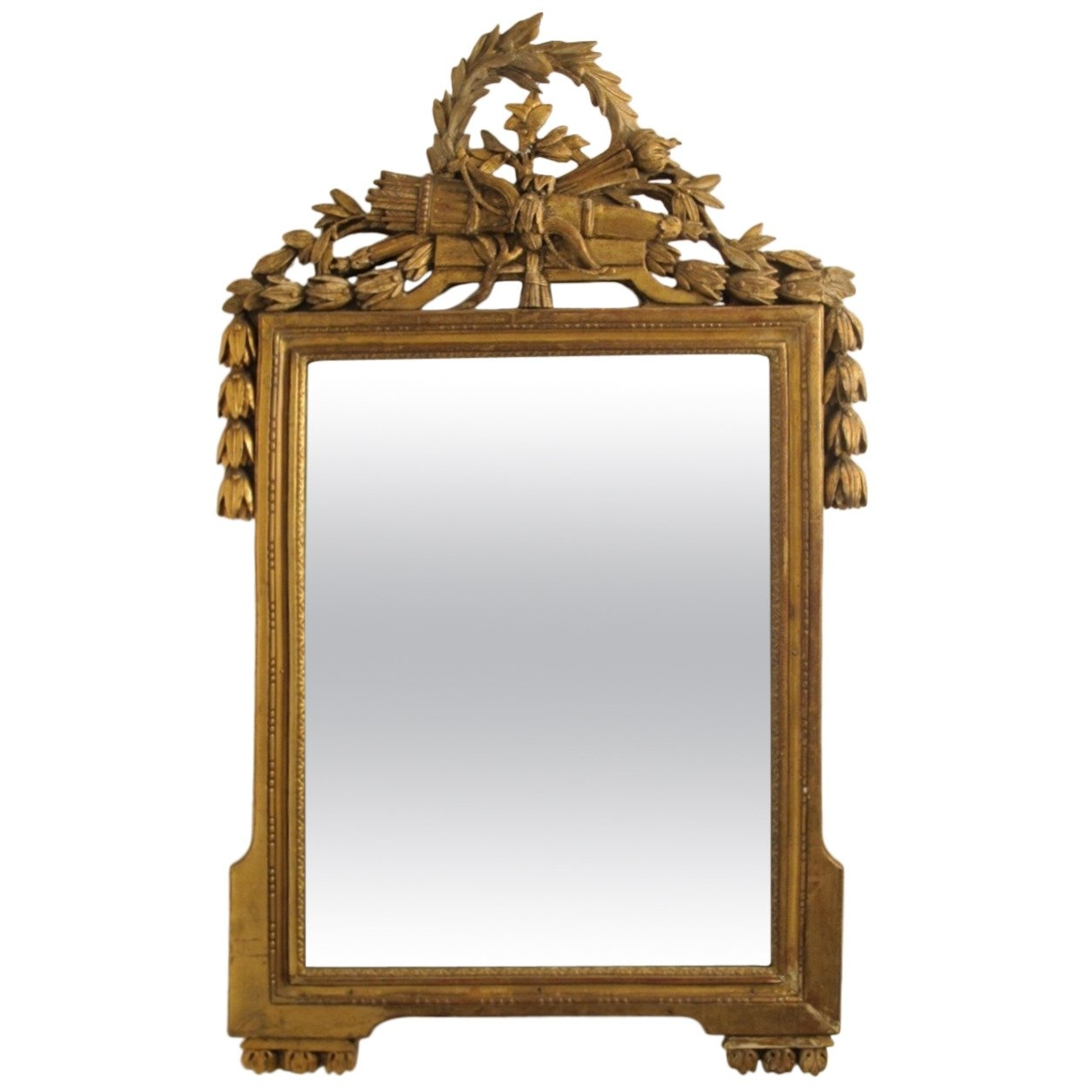 18th Century Louis Xvi Gilt Framed Mirror For Sale At 1stdibs Inside Gilt Framed Mirror (Image 1 of 15)