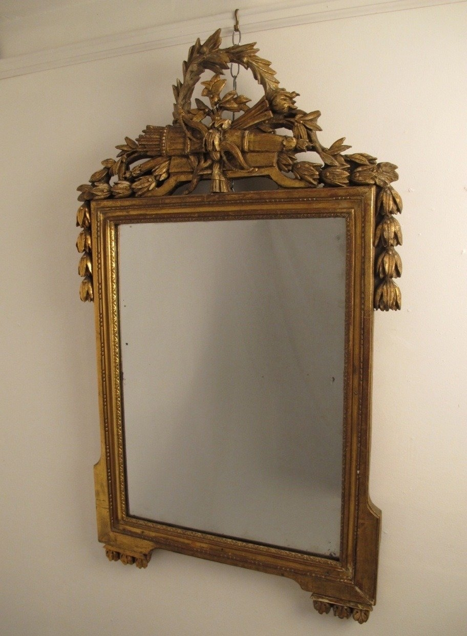 18th Century Louis Xvi Gilt Framed Mirror For Sale At 1stdibs Inside Gilt Framed Mirrors (Image 3 of 15)