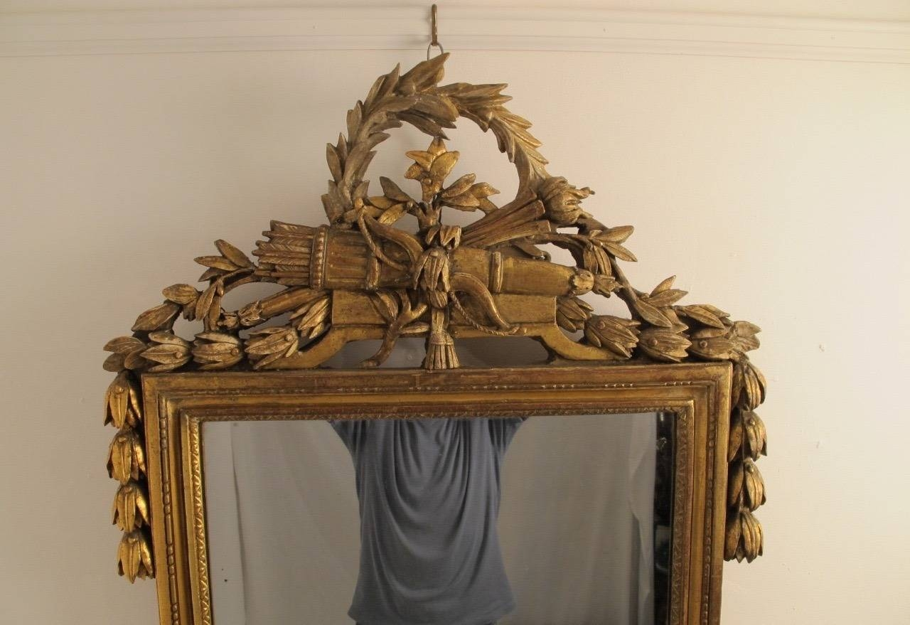 18th Century Louis Xvi Gilt Framed Mirror For Sale At 1stdibs Intended For Gilt Framed Mirror (Image 2 of 15)