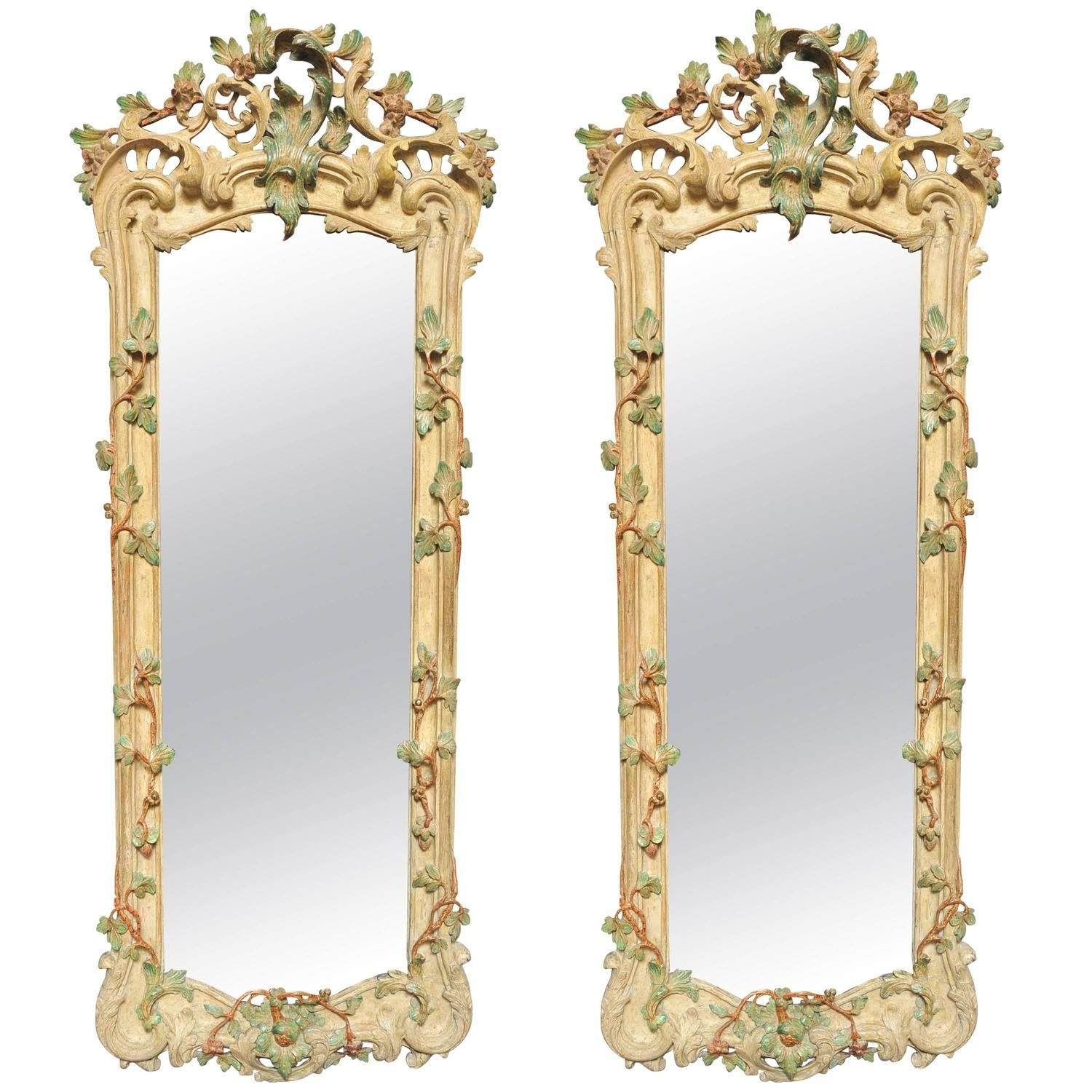 18th Century Pair Of German Rococo Mirrors Girandoles Circa Intended For Rococo Mirrors (Image 2 of 15)