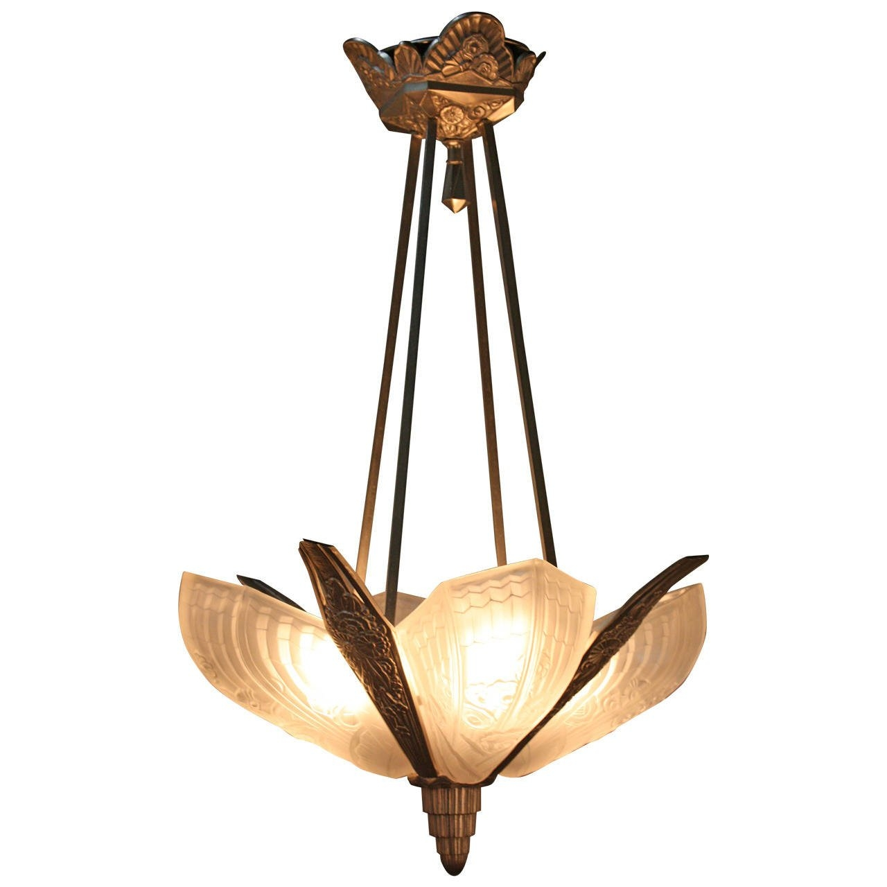 1920s Art Deco Chandelier At 1stdibs In Art Deco Chandelier (Image 1 of 15)