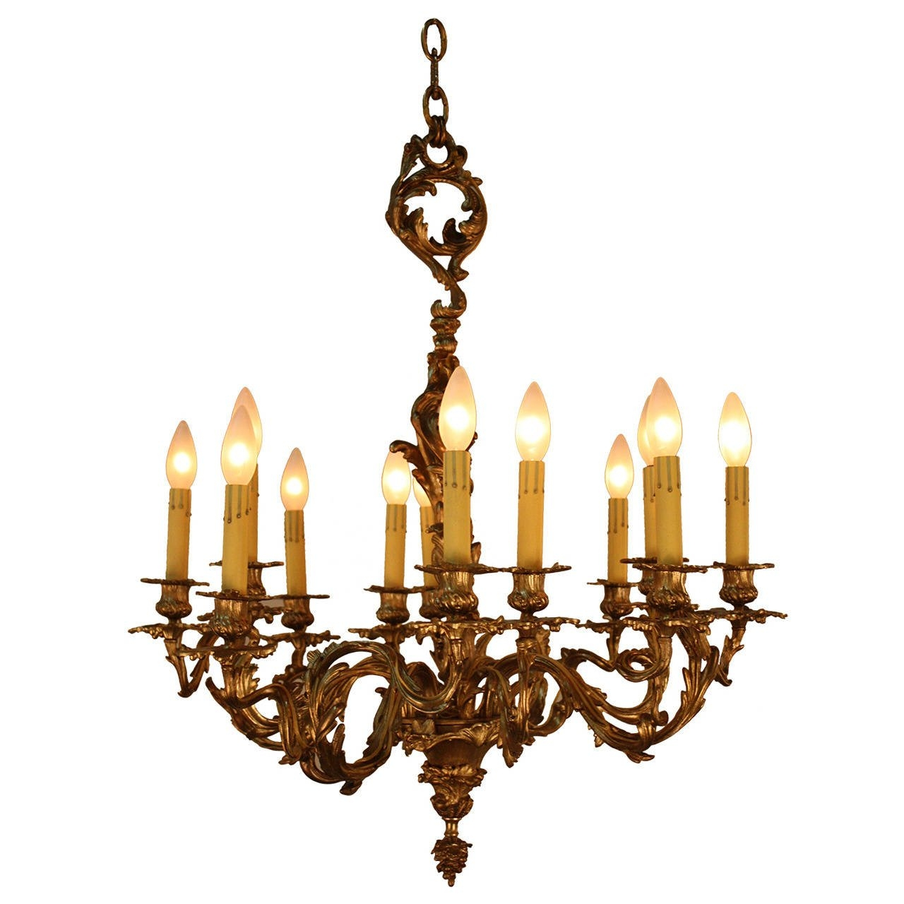 19th Century French Bronze Chandelier At 1stdibs Inside French Bronze Chandelier (Image 1 of 15)