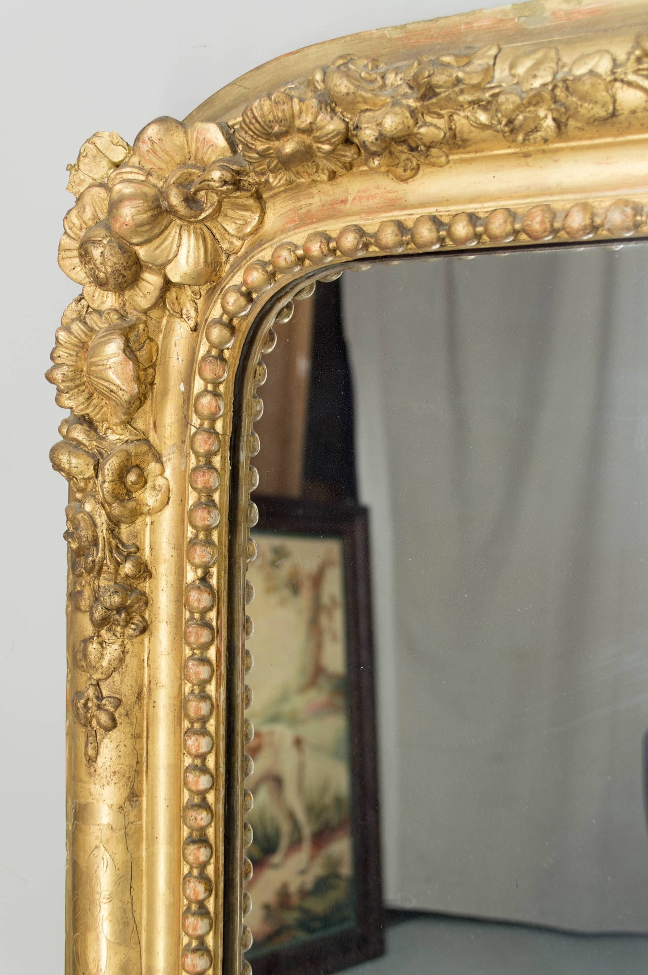 19th Century French Gilt Mirror For Sale At 1stdibs Regarding French Gilt Mirror (Image 1 of 15)