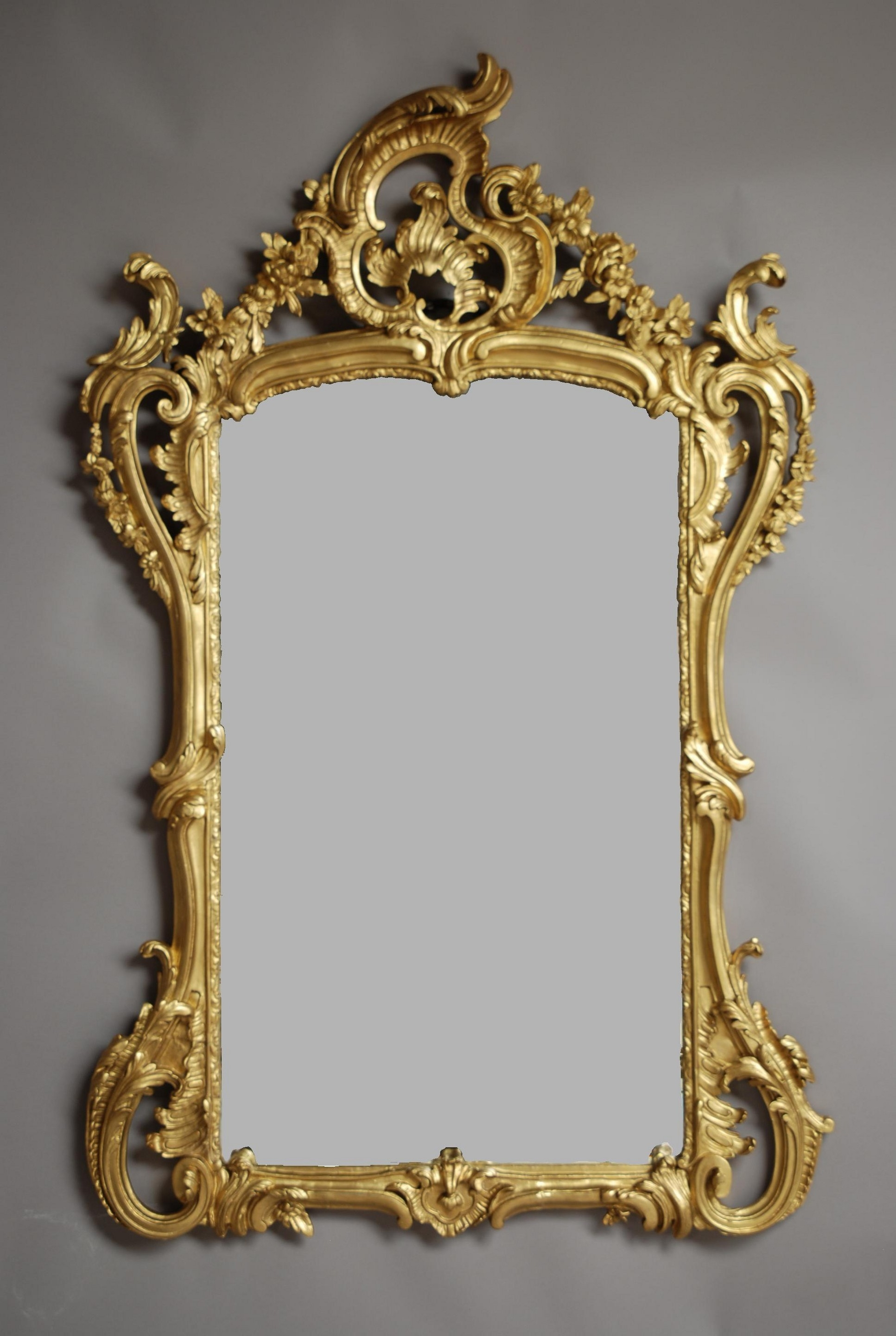 19th Century French Mirror In The Rococo Manner 1880 England In French Mirror (Image 1 of 15)