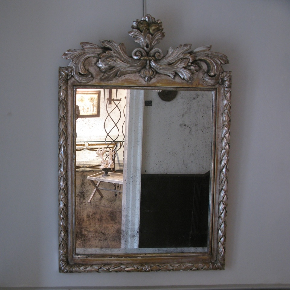 19th Century French Or Italian Silver Gilded Mirror Paintings Pertaining To Silver Gilded Mirror (View 11 of 15)