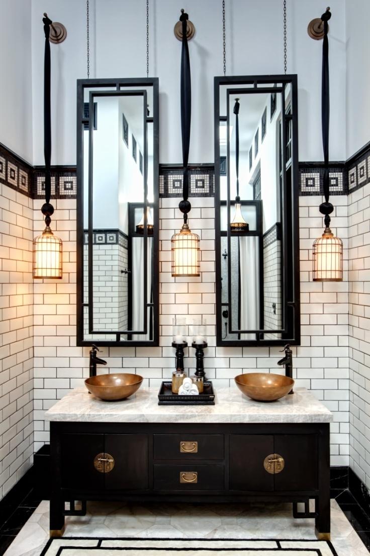 20 Stunning Art Deco Style Bathroom Design Ideas Industrial Intended For Art Deco Style Bathroom Mirrors (View 14 of 15)