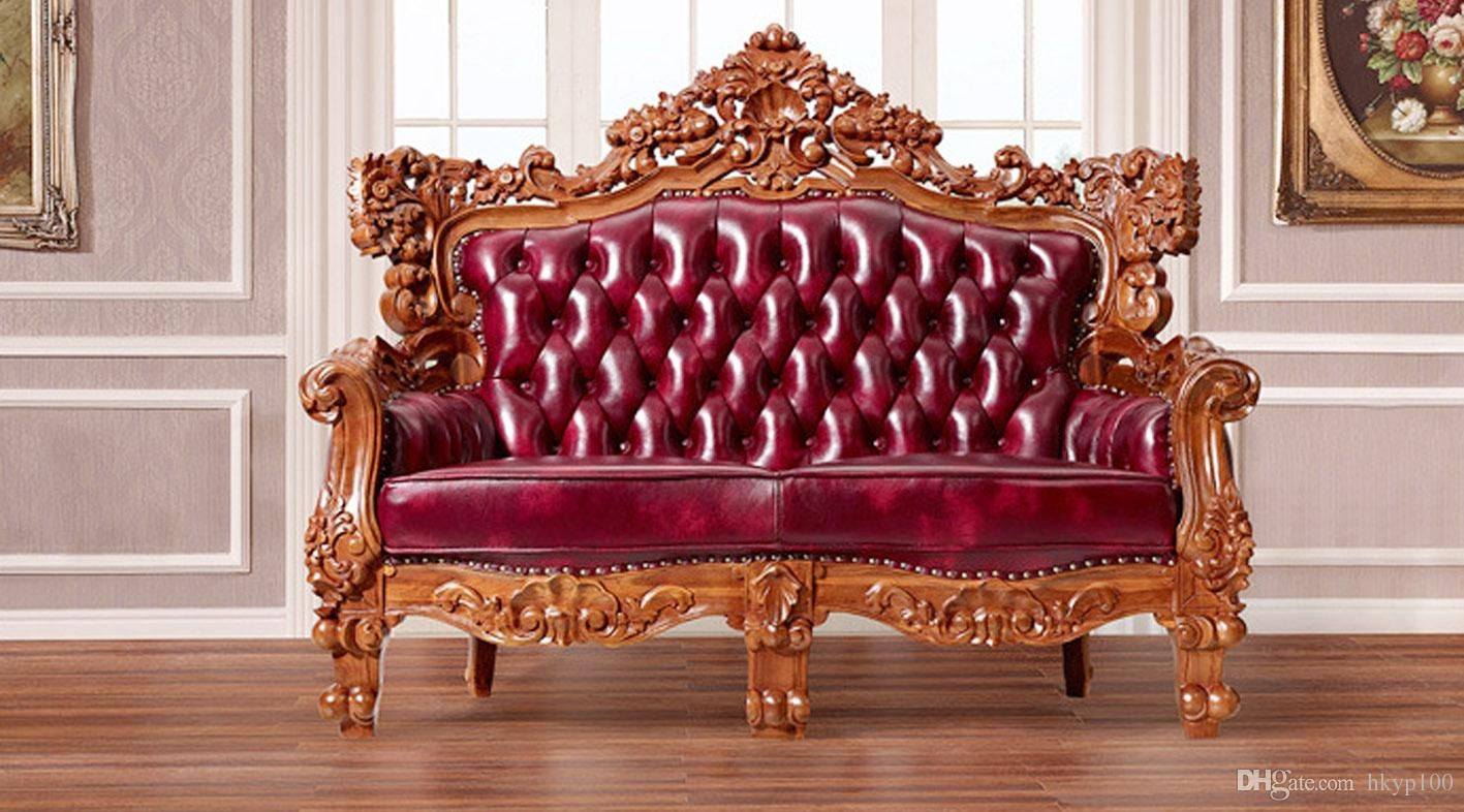 2017 2015 New Carved Classic European Style Sofa Leather Sofa In European Style Sofas (Image 1 of 15)
