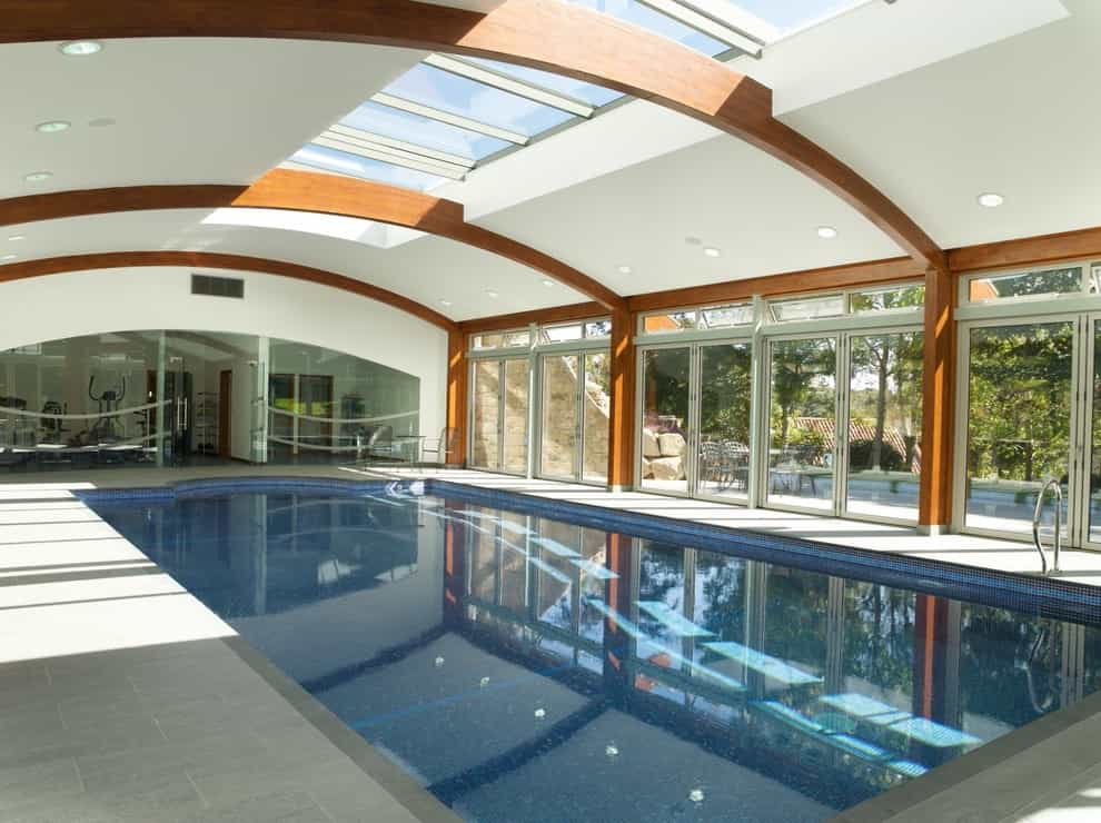 2017 Beauty Contemporary Rectangular Indoor Pool Design (Image 1 of 14)