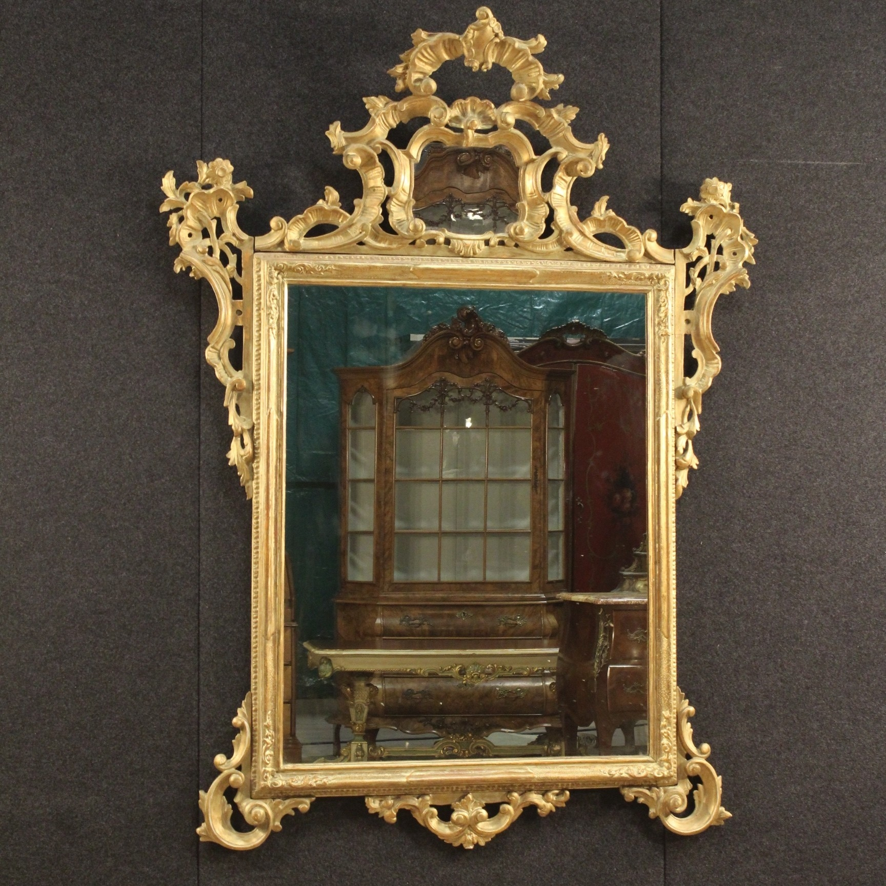 20th Century Venetian Gilded Mirror C 1960 Italy From Parino For Gilded Mirror (Image 2 of 15)