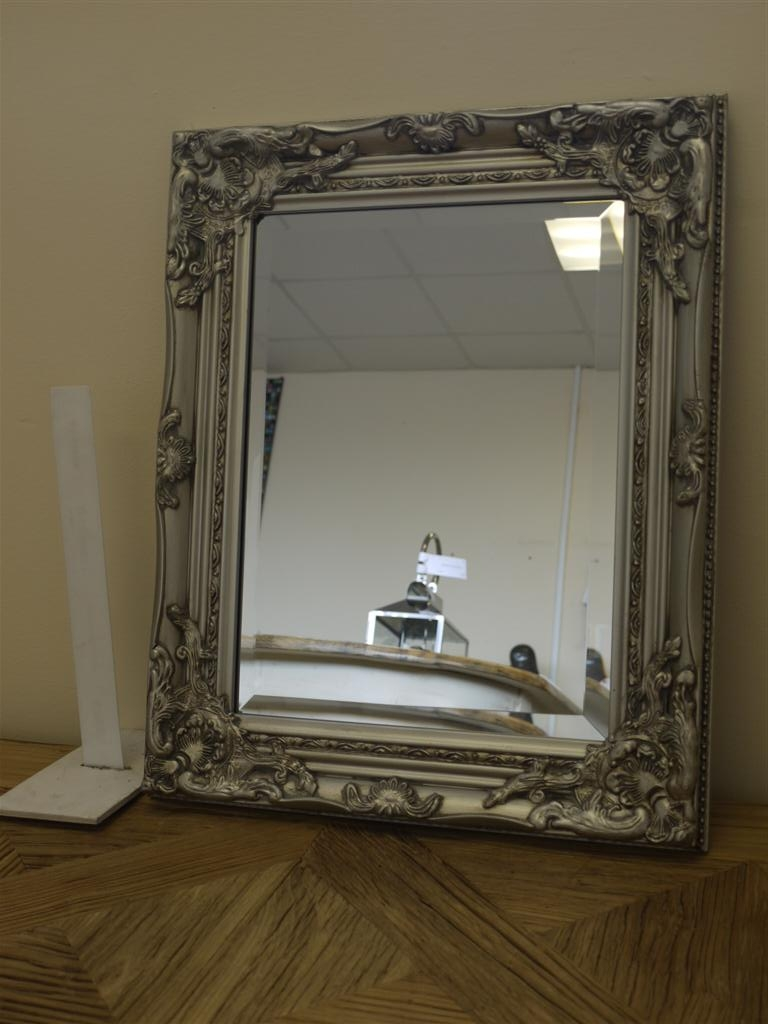 21×17 Silver Framed Mirror Rectangular Somerset South West Home With Regard To Silver Gilded Mirror (Image 3 of 15)