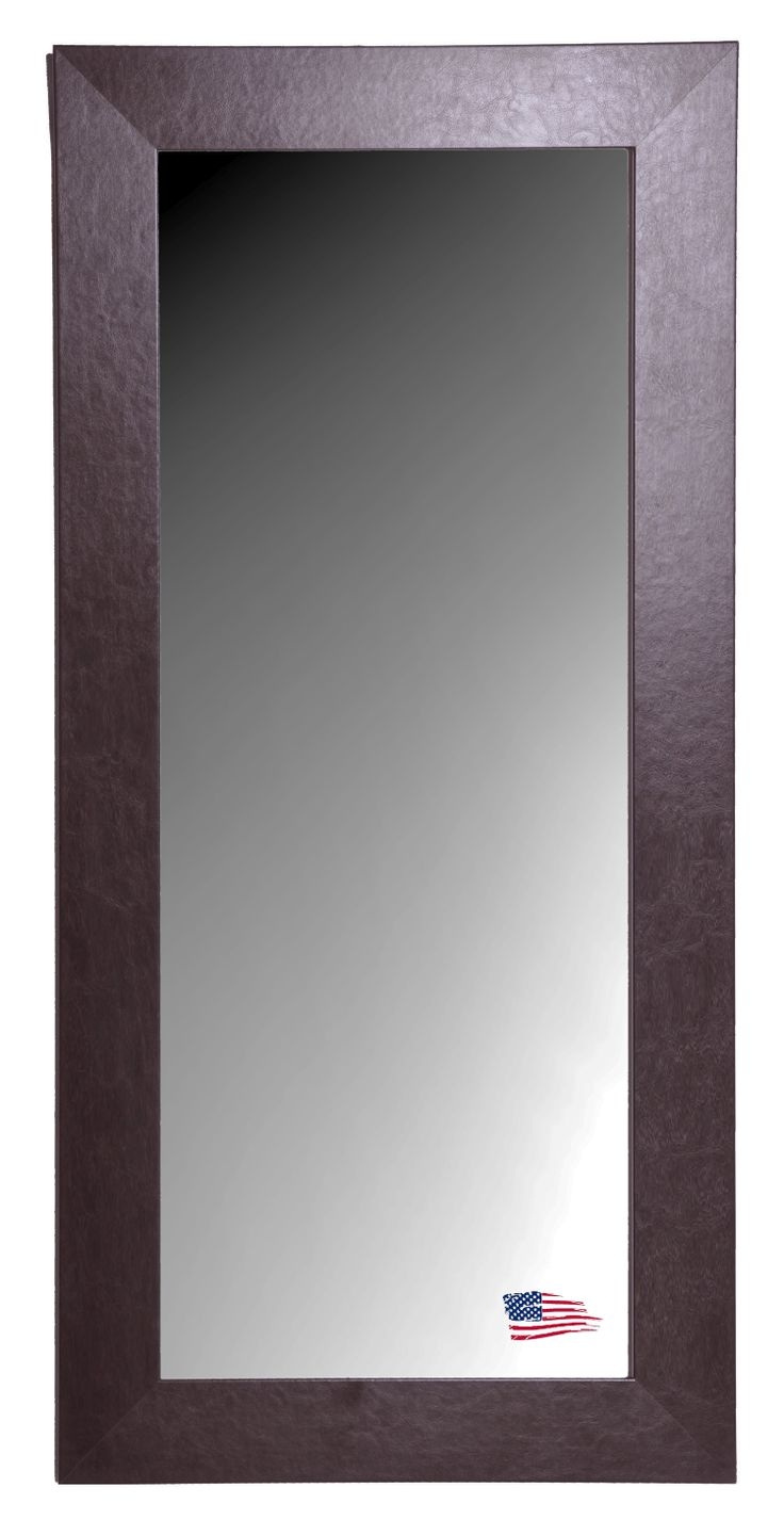 23 Best Images About Over Size Mirrors American Made On Pinterest With Regard To Leather Mirrors Wall (Image 3 of 15)