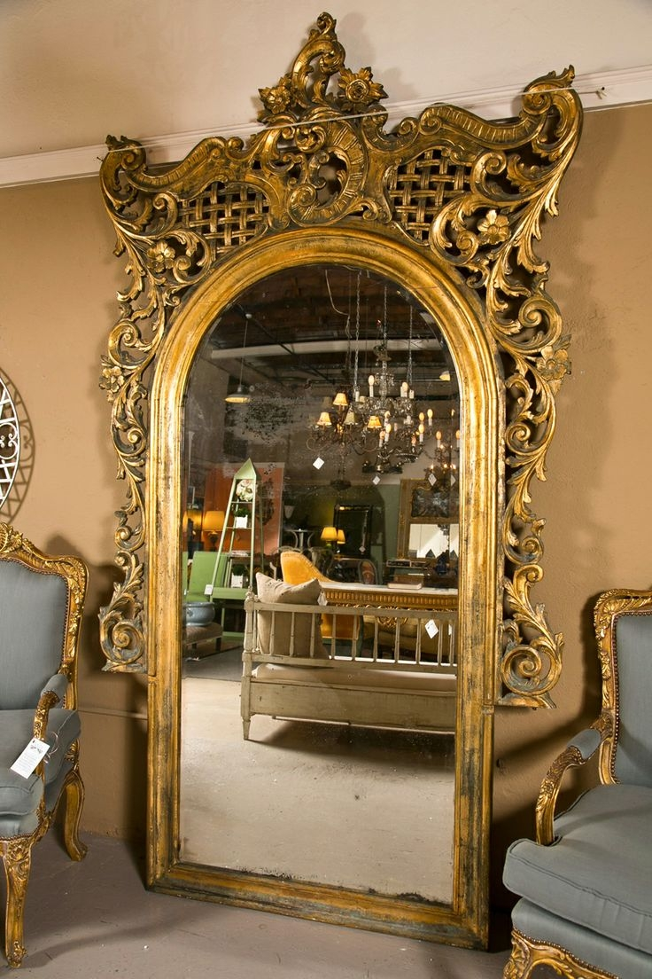 235 Best Images About Reflections In The Mirror On Pinterest Pertaining To Rococo Floor Mirror (Image 2 of 15)