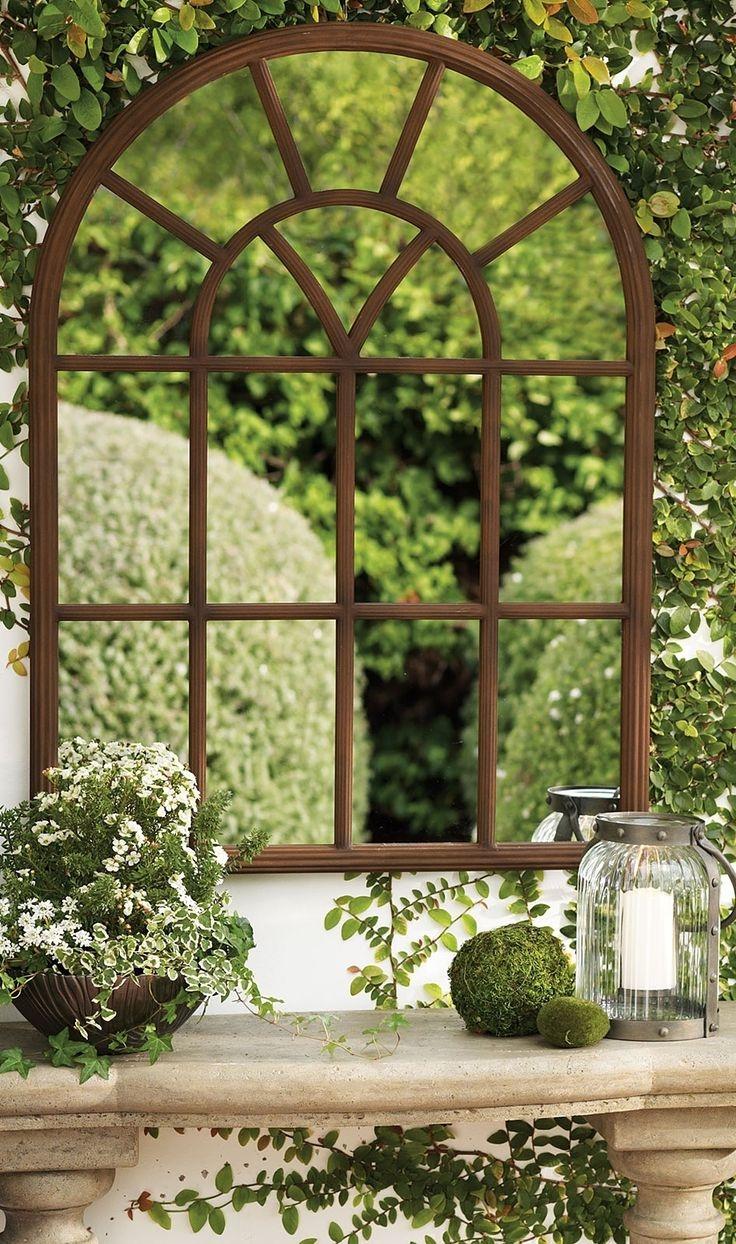 25 Best Garden Mirrors Ideas On Pinterest Within Garden Window Mirror (Image 1 of 15)