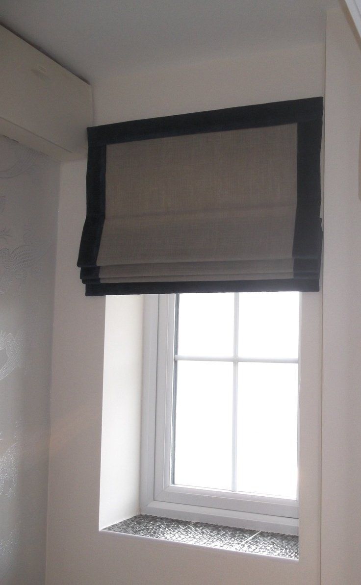 25 Best Ideas About Black Roman Blinds On Pinterest Neutral Within Black Roman Blinds (Image 1 of 15)