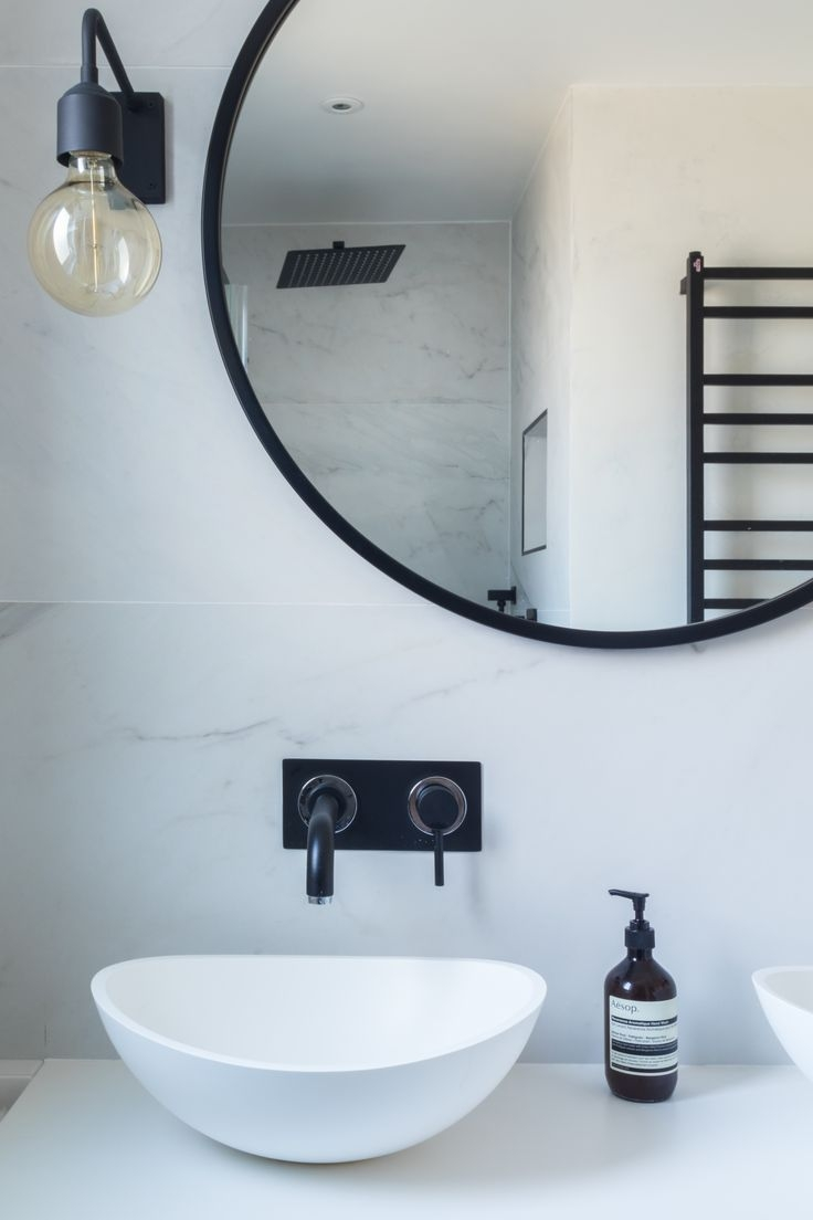 25 Best Ideas About Black Round Mirror On Pinterest Small Hall Intended For Black Round Mirror (Image 1 of 15)