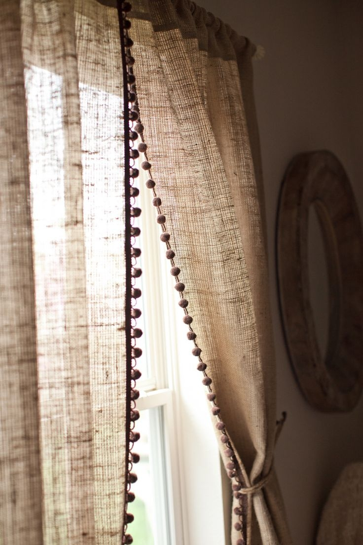 25 Best Ideas About Burlap Curtains On Pinterest Burlap Kitchen Pertaining To Hessian Curtains (Image 1 of 15)