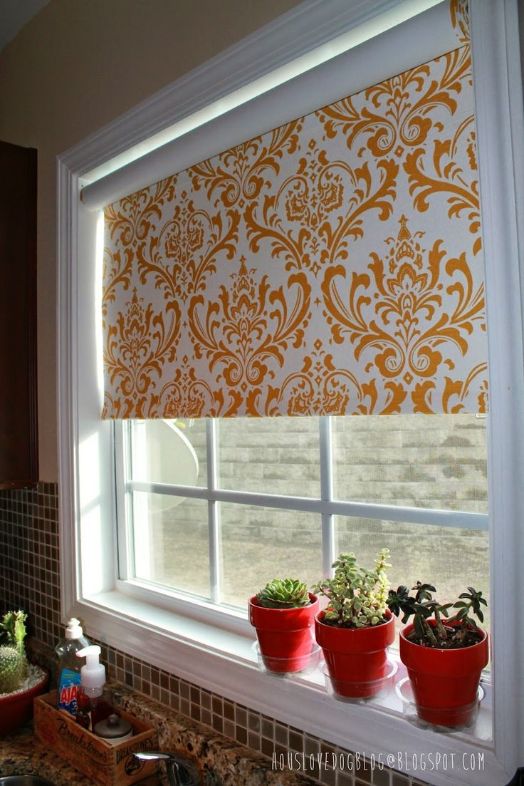 25 Best Ideas About Diy Roller Blinds On Pinterest Window In Fabric Roller Blinds (Image 1 of 15)