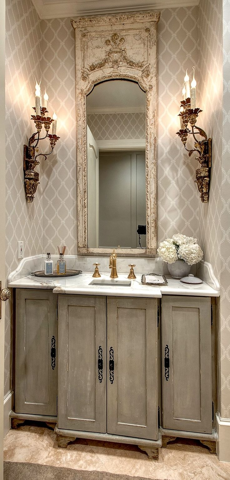 25 Best Ideas About French Bathroom On Pinterest Regarding French Style Bathroom Mirror (Image 1 of 15)