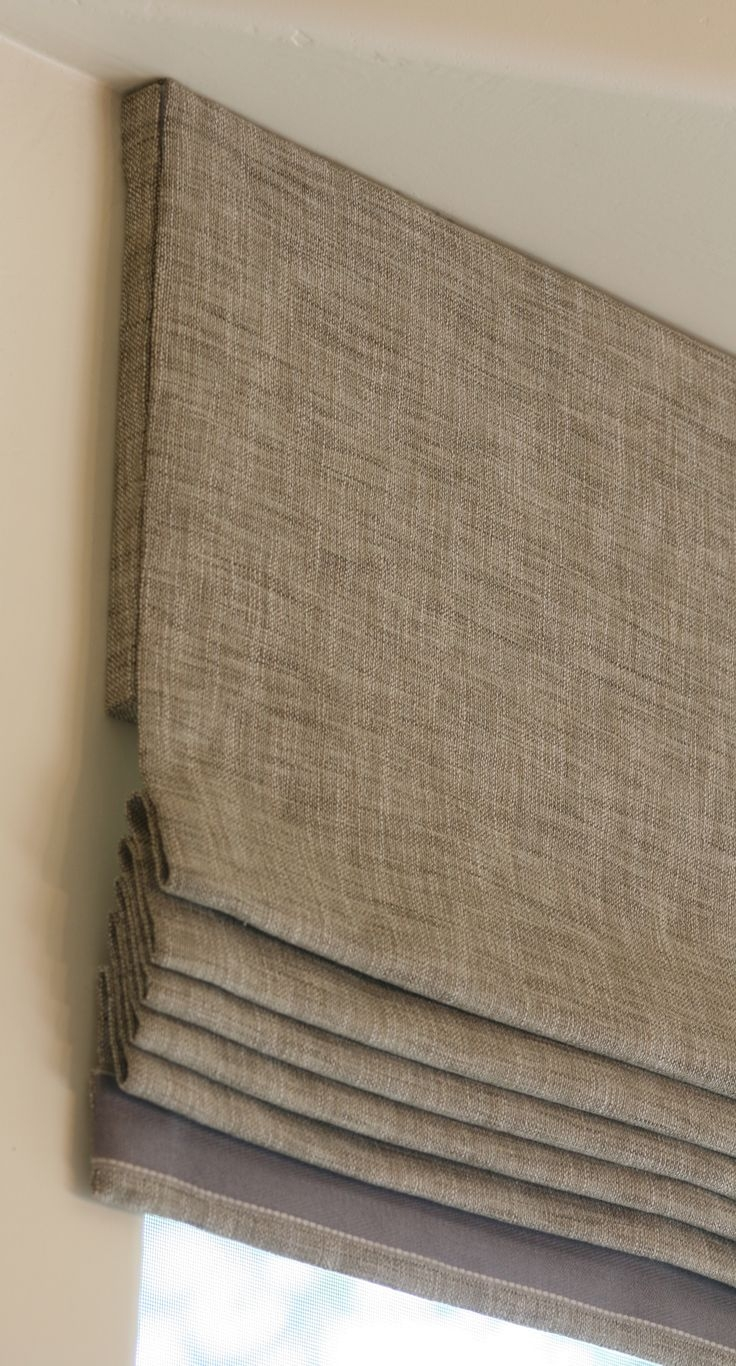 25 Best Ideas About Linen Roman Shades On Pinterest Neutral Inside Linen Roller Blinds (Image 2 of 15)