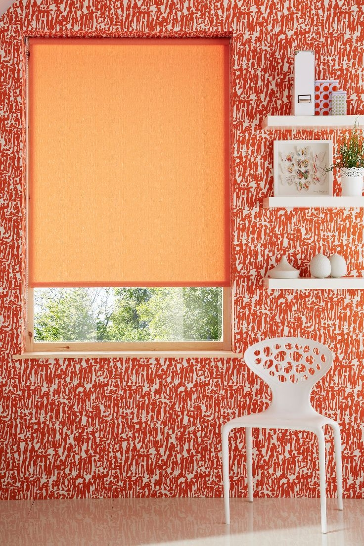25 Best Ideas About Orange Roller Blinds On Pinterest Small Inside Orange Roller Blinds (Image 2 of 15)