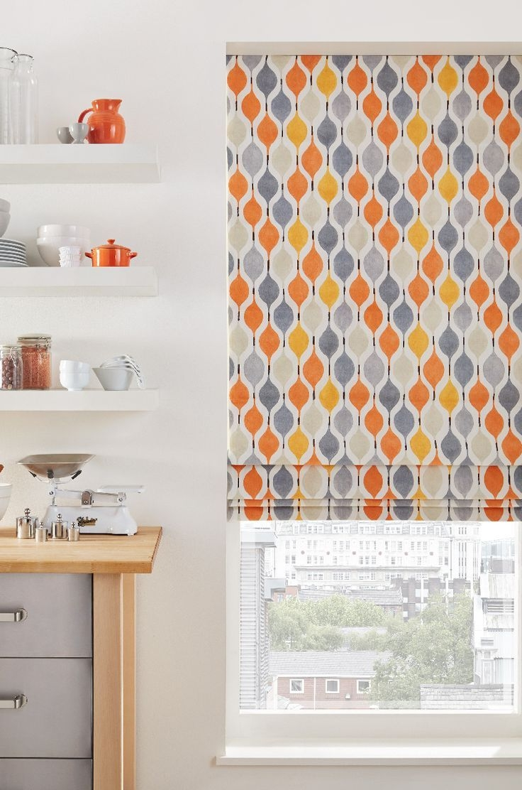 15 Best Ideas Orange Roller Blinds Curtain Ideas