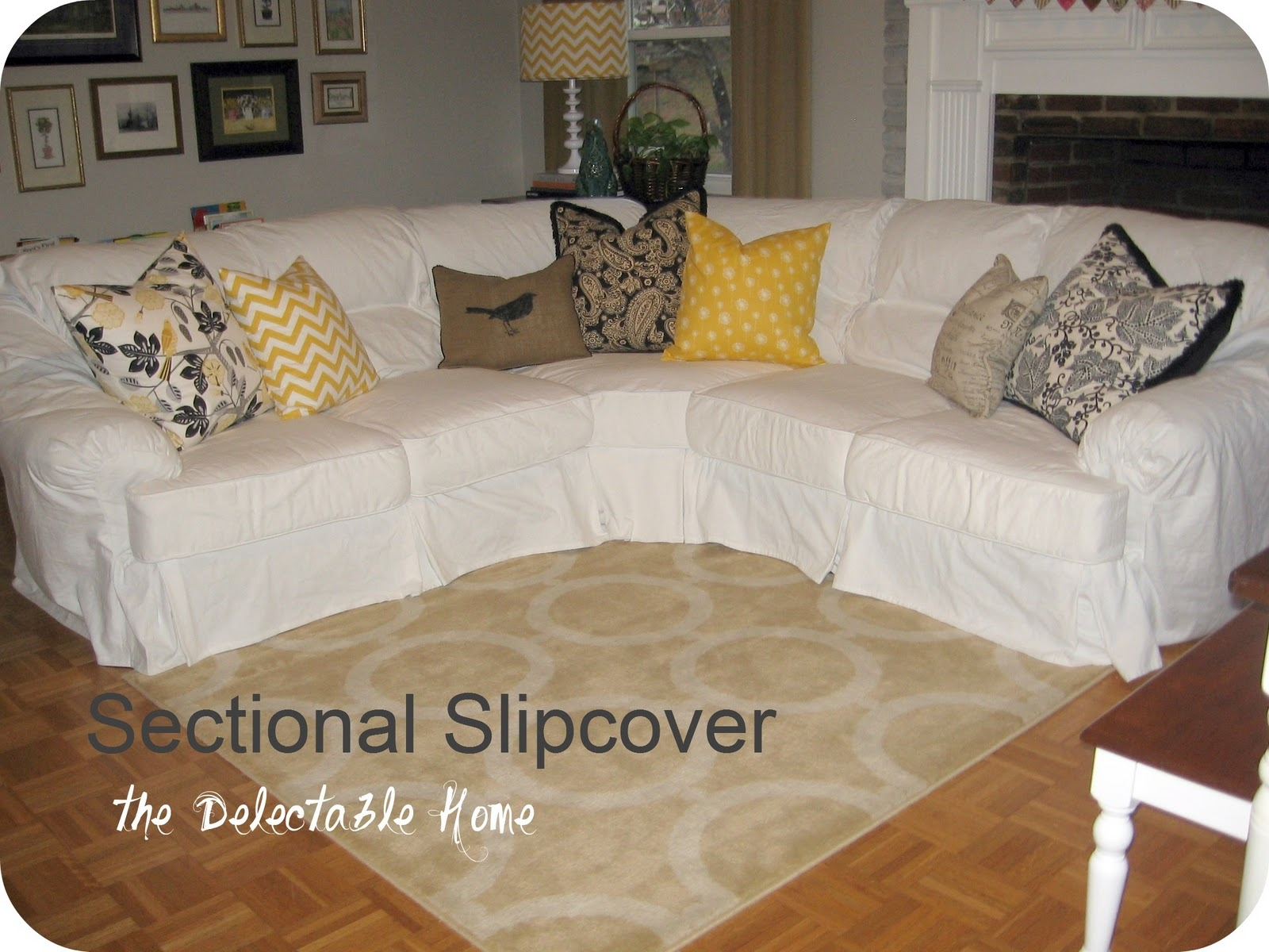 25 Best Ideas About Sectional Slipcover On Pinterest Throughout Chaise Sofa  Covers (Image 1 Of