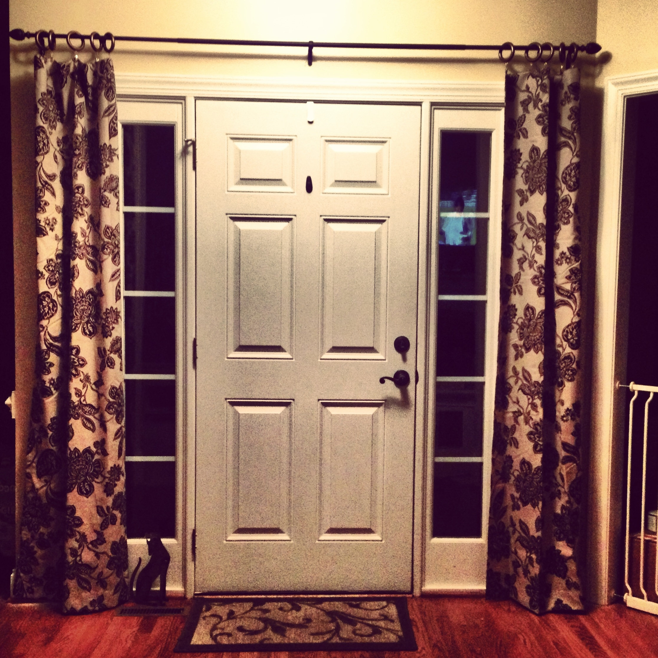 25 Best Ideas About Sidelight Curtains On Pinterest Front Door In Main Door Curtains (View 3 of 15)