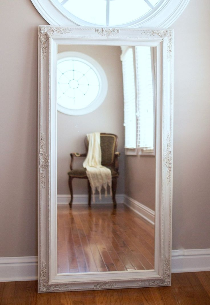 25 Best Ideas About White Full Length Mirrors On Pinterest Throughout Long Length Mirror (Image 1 of 15)