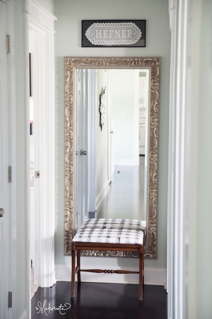 25 Best Long Mirror Ideas On Pinterest Framing A Mirror Pallet Within Long Brown Mirror (Image 1 of 15)