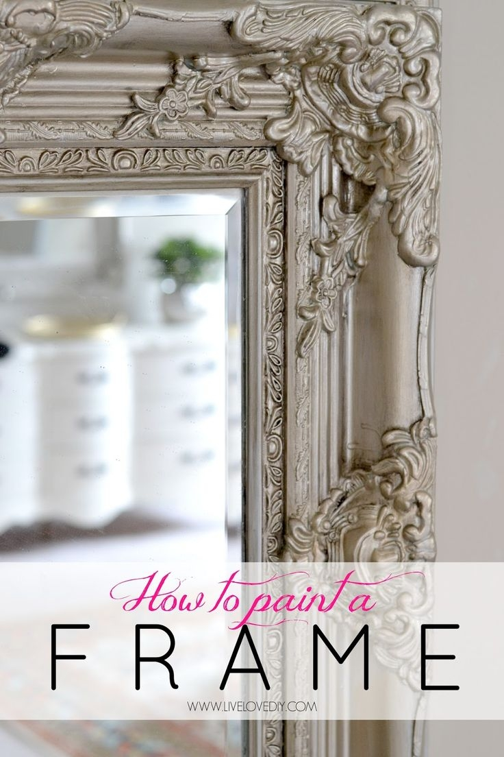 25 Best Painted Mirror Frames Ideas On Pinterest Painting A In Bright Coloured Mirrors (View 8 of 15)