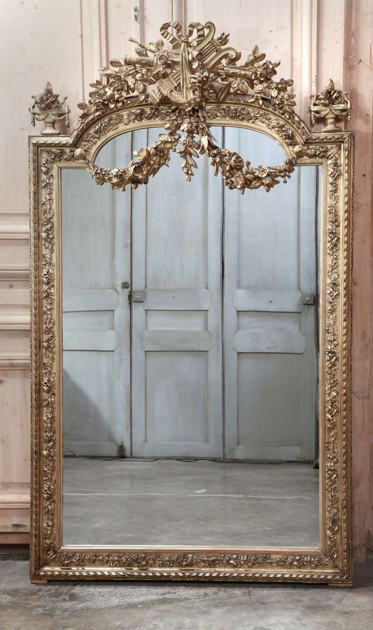 25 Great Ideas About French Mirror On Pinterest Intended For Antique French Floor Mirror (Image 1 of 15)