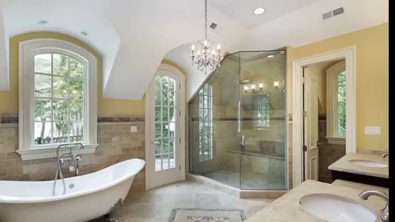 27 Beautiful Bathroom Chandeliers In Luxury Master Suites Youtube With Bathroom Chandeliers (Image 7 of 15)